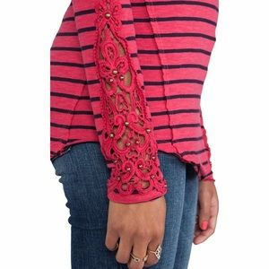 Free People Hard Candy Cuff Top in Red Combo